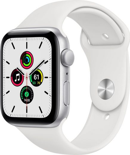 Apple SE GPS, Aluminiumgehäuse mit Sportarmband 44mm Watch, inkl. Ladestation (magnetisches Ladekabel)