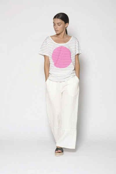 PAN T-Shirt »PAN Damen T-Shirt mit Streifen und Motivprint«