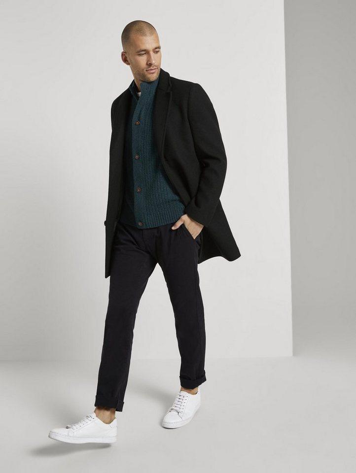 tom tailor -  Cardigan »Strukturierte Strickjacke mit Stehkragen«