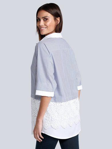 Alba Moda Bluse in Patch-Optik