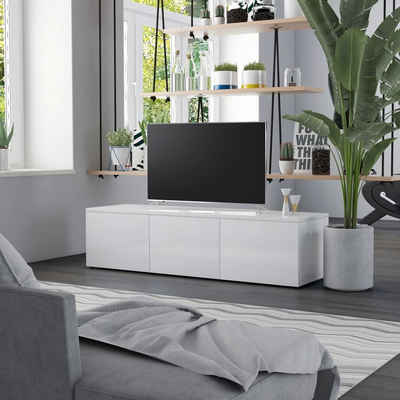 vidaXL TV-Schrank »vidaXL TV-Schrank Hochglanz-Weiß 120 x 34 x 30 cm Spanplatte«