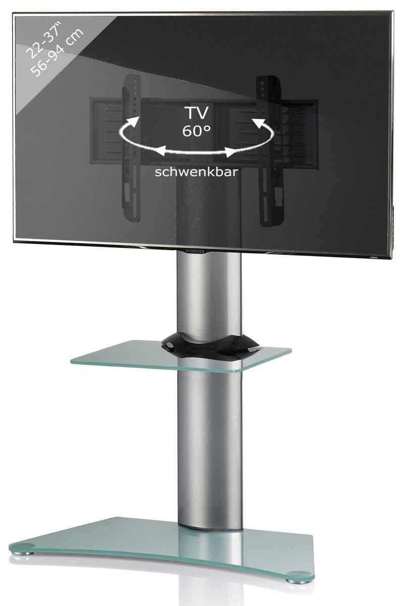 VCM »TV Standfuß Alu Glas Findal ZW« TV-Ständer