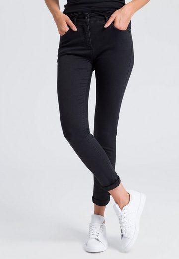 MARC AUREL 5-Pocket-Jeans im Black-Denim Look