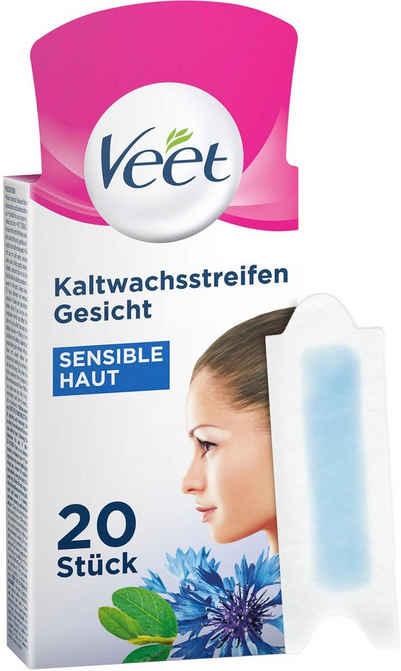 Veet Kaltwachsstreifen »Easy-Gelwax Gesicht«, 20 Stück, für sensible Haut
