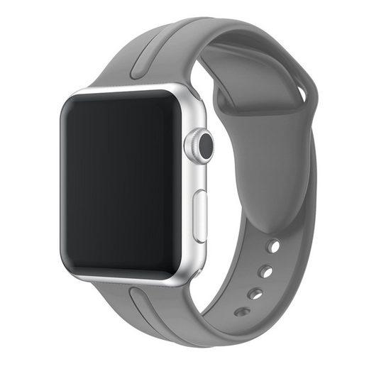 CoverKingz Smartwatch-Armband »Sportarmband für Apple Watch Series 6/SE/5/4/3/2/1 Armband 38mm/40mm Silikon Band Grau«