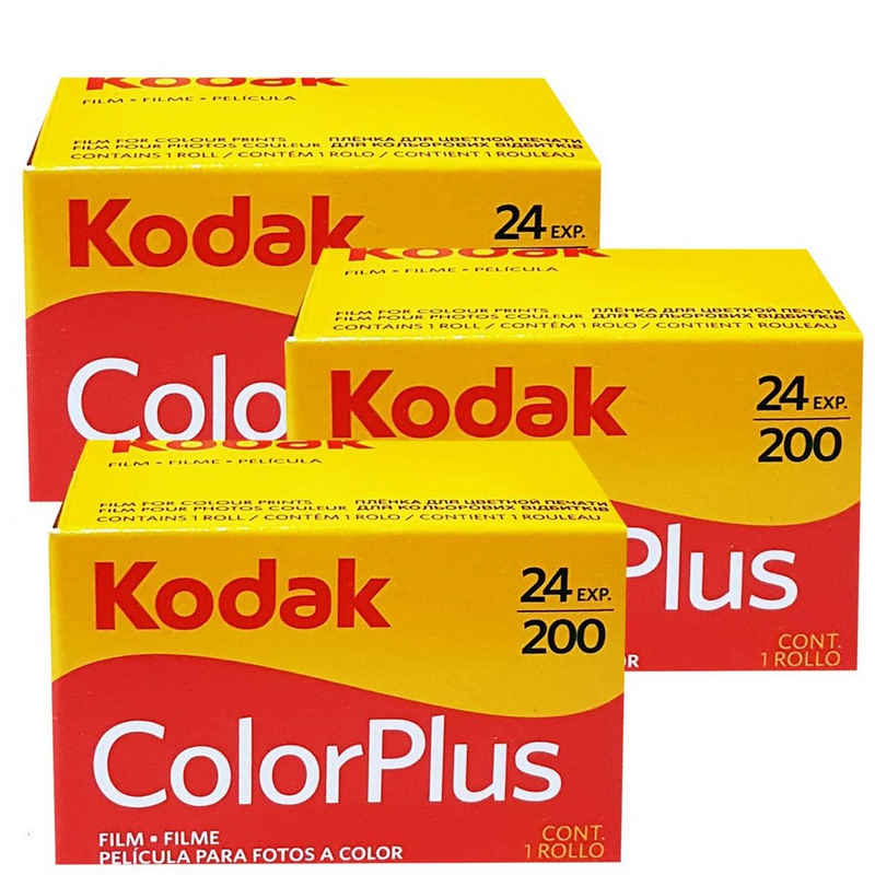1A PHOTO PORST »3 x Kodak Color plus 200 135/24 Kleinbildfilm für« Superzoom-Kamera