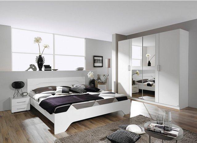 Schlafzimmer Sets - rauch BLUE Schlafzimmer Set »Rubi«, (Set, 4 St), mit Schrank, Bett 180x200 cm und 2 Nachttischen  - Onlineshop OTTO