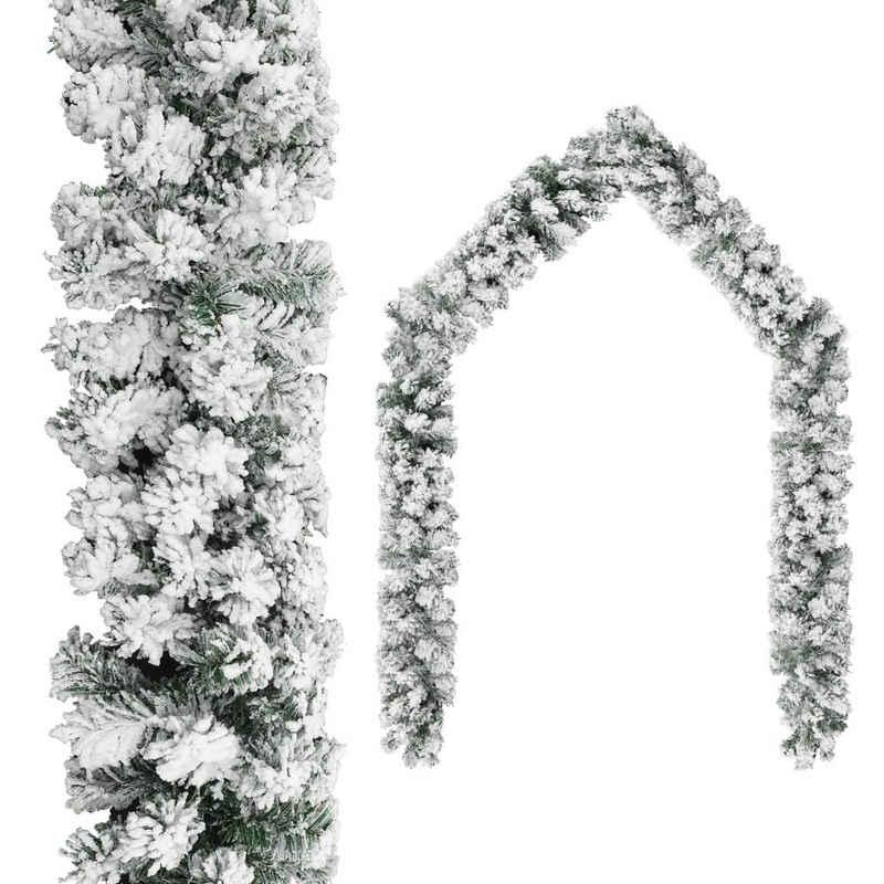 vidaXL Girlande »vidaXL Weihnachtsgirlande mit Schnee Grün 5 m /10 m/ 20 m PVC«
