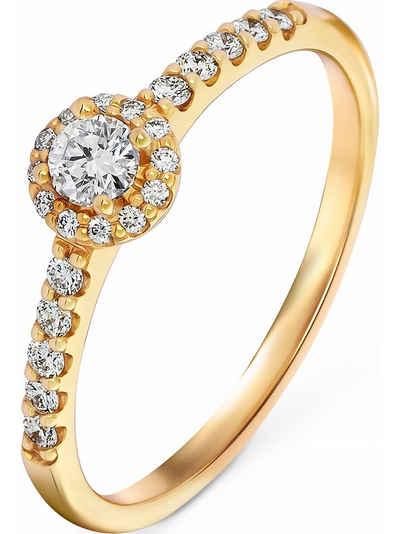 CHRIST Fingerring »CHRIST Damen-Damenring 23 Diamant«