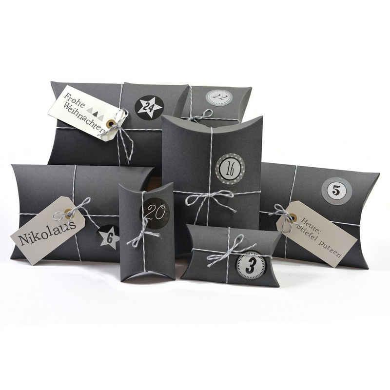 Frau WUNDERVoll Kalender zum Selbstbasteln »Adventskalender HoHoHo, Farbe grau (Ziffern grau)«