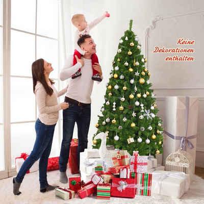 COSTWAY Künstlicher Weihnachtsbaum »Weihnachtsbaum«, 180cm Tannenbaum mit Klappsystem, Christbaum 1000 Spitzen PVC Nadeln Weihnachten Metallständer