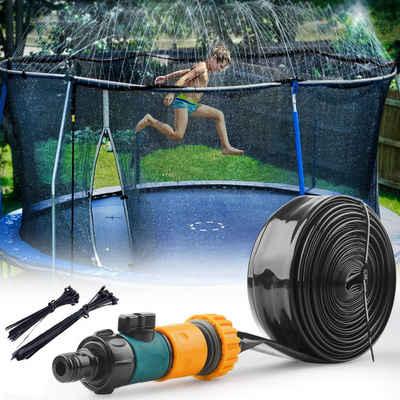 Favson Langhantel »Trampolin Sprinkler, 15m Outdoor Wasserpark Trampolin Wasser Sprinkler, Sommer Water Spaß Trampolin Zubehör für Kinder«