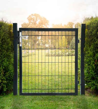 HOME DELUXE Gartentor, BxH: 100x140 cm, für Doppelstabmatten