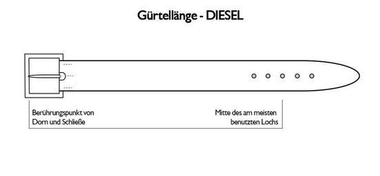 Diesel Ledergürtel »Herren Gürtel Bluestar - Echt Leder,«