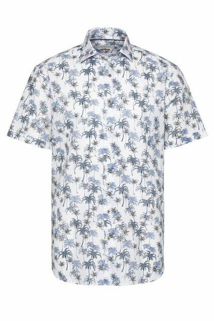 Artikel klicken und genauer betrachten! - Hawaihemden schwimmen auf der Retro-Welle liegen wieder voll im Trend. Das Freizeithemd mit Palmen-Print ist dem ultra angenehmen Leinen-Baumwoll-Mix dabei voll im Hier und Jetzt angekommen. | im Online Shop kaufen