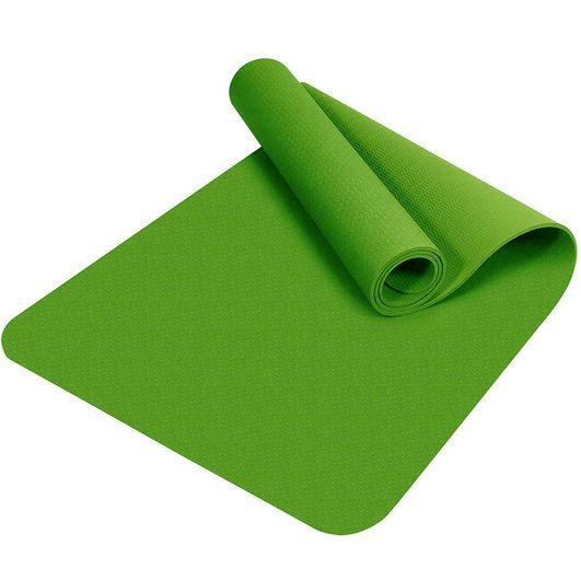 SmartYogi Yogamatte »TPE« (1x Yogamatte mit Tragegurt und Tasche), Yogamatte Gymnastikmatte Unterlegmatten rutschfest TPE hypoallergen hautfreundlich Fitnessmatte Sportmatte mit Tasche und Trageband