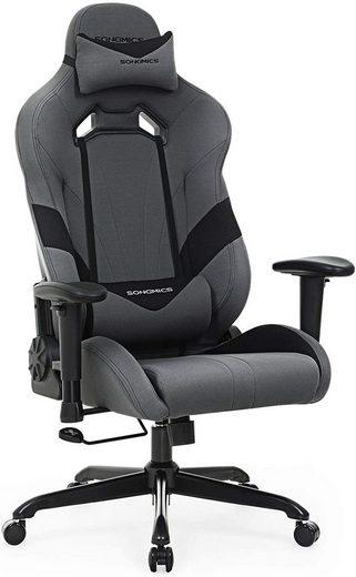 SONGMICS Gaming Chair »RCG13G«, Bürostuhl, Gaming Stuhl, Chefsessel, grau-schwarz