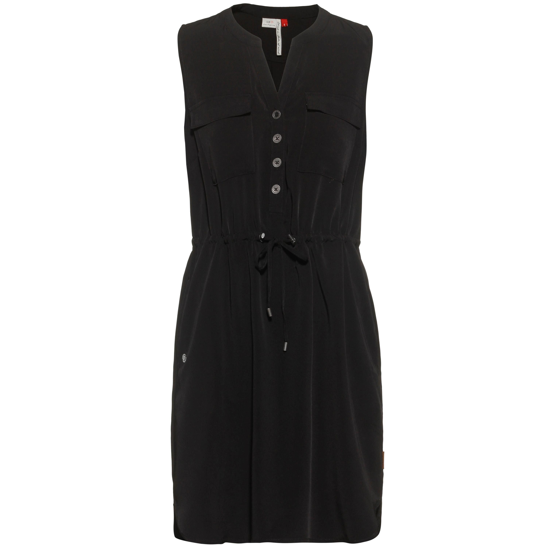 RAGWEAR PELIADA ORGANIC Beige Kleid aus Baumwoll-Jersey mit All-Over-Print