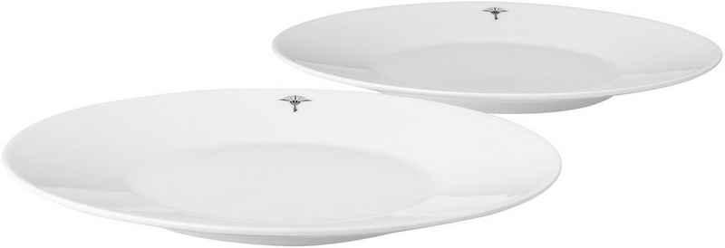Joop! Brotteller »JOOP! SINGLE CORNFLOWER«, (2 Stück), hochwertiges Porzellan mit einzelner Kornblume als Dekor, Ø 19 cm