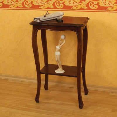 Pharao24 Telefontisch »Martina«, aus Massivholz, mit runder Tischplatte