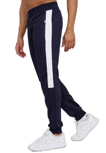 Max Men Jogginghose »3594« Herren Basic Jogger Sport Trainingshose Gummibund Sport Hose Zip Taschen