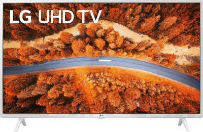LG 43UP76909LE LCD-LED Fernseher (108 cm/43 Zoll, 4K Ultra HD, Smart-TV, LG Local Contrast, Sprachassistenten, HDR10 Pro, LG ThinQ, Weiß, inkl. Magic-Remote Fernbedienung)
