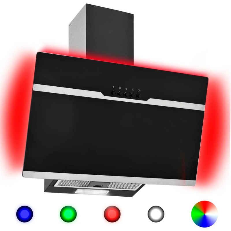 vidaXL Montagezubehör Dunstabzugshaube »vidaXL RGB Dunstabzugshaube LED 60 cm Edelstahl und Hartglas«