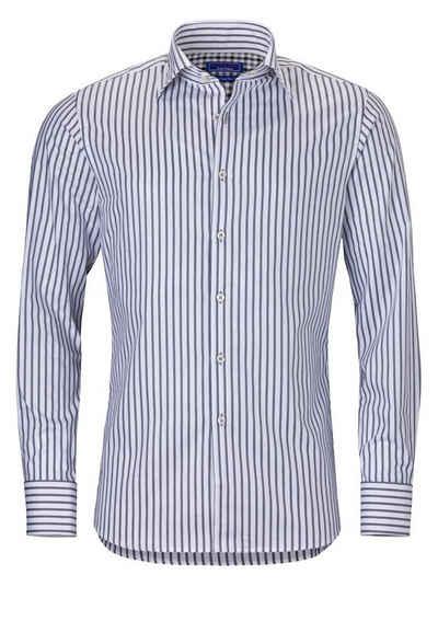 East Club London Streifenhemd in elegantem Streifen-Design