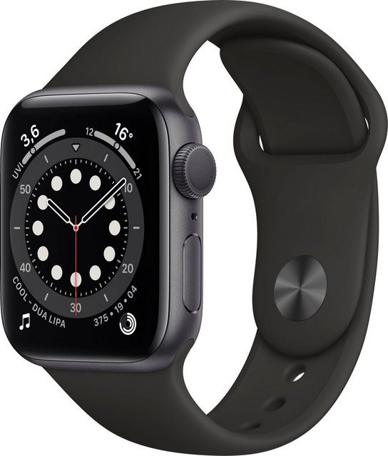Smartwatches - Apple Series 6 GPS, Aluminiumgehäuse mit Sportarmband 40mm Watch (Watch OS, inkl. Ladestation (magnetisches Ladekabel)  - Onlineshop OTTO