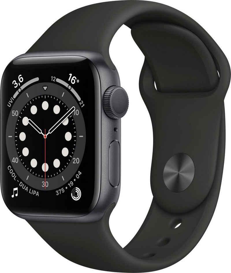 Apple Series 6 GPS, Aluminiumgehäuse mit Sportarmband 40mm Watch (Watch OS), inkl. Ladestation (magnetisches Ladekabel)