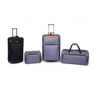 HTI-Line Kofferset »Kofferset 4-tlg High Level«, 2 Rollen, (Set, 4 tlg), Weich