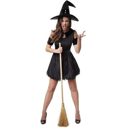 tectake Hexen-Kostüm »Frauenkostüm Schwarze Hexe Tarantella«
