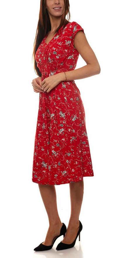 Joe Browns Jerseykleid »Joe Browns Jersey-Kleid wunderschönes Damen Sommer-Kleid Freizeit-Kleid mit Alloverdruck Rot«