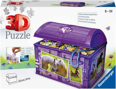 Ravensburger 3D-Puzzle »Schatztruhe Pferde«, 216 Puzzleteile, Made in Europe, FSC® - schützt Wald - weltweit