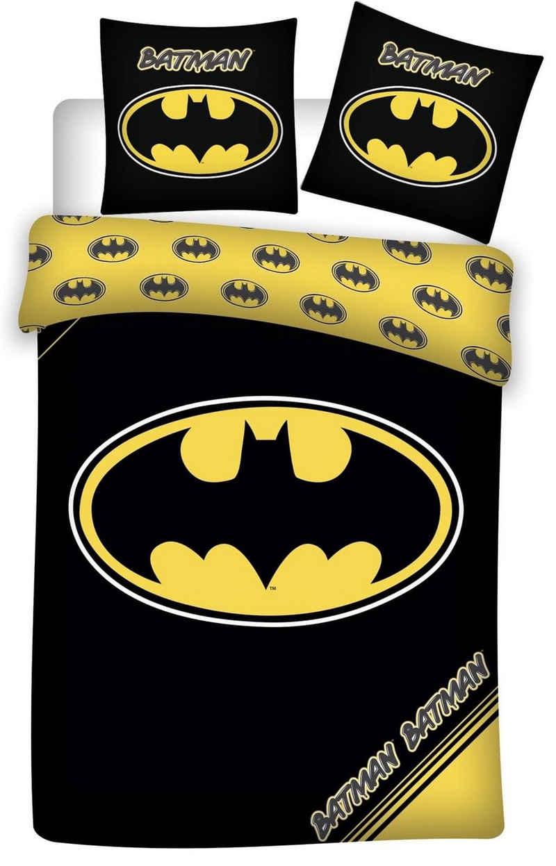 Kinderbettwäsche »Batman - Bettwäsche-Set mit Wendemotiv, 135x200 & 80x80 cm«, Batman, 100% Baumwolle