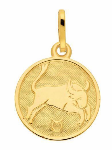 Adelia´s Kettenanhänger »333 Gold Sternzeichen Anhänger Stier Ø 11,8 mm«, Goldschmuck für Damen & Herren