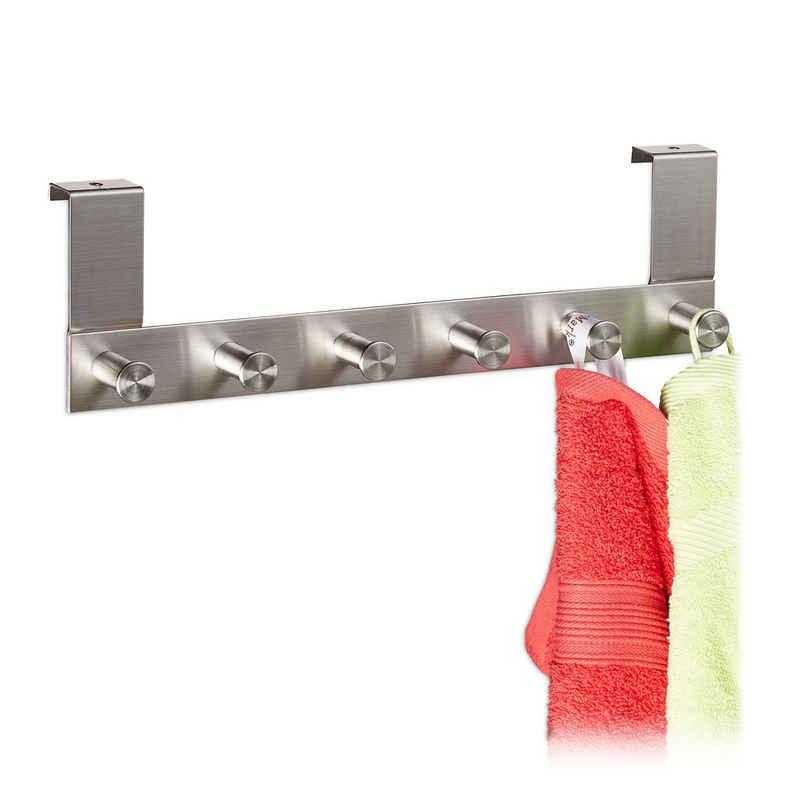 relaxdays Hakenleiste »1 x Türgarderobe für Falztüren bis 1,8cm«