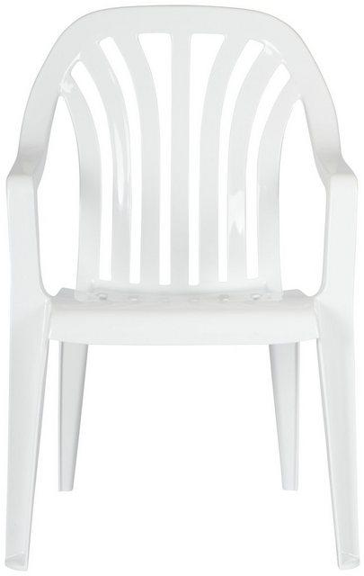 Best Gartenstuhl 4 Stück weiß
