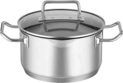 RÖSLE Kochtopf »EXPERTISO«, Edelstahl 18/10, (1-tlg), Universaltopf, mit Innenskalierung, Ausgießschnaupen und Glasdeckel, spülmaschinen- und induktionsgeeignet
