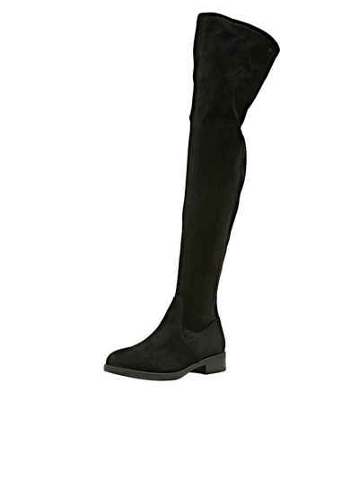 Esprit »Overknee-Stiefel in Velourslederoptik« Stiefel