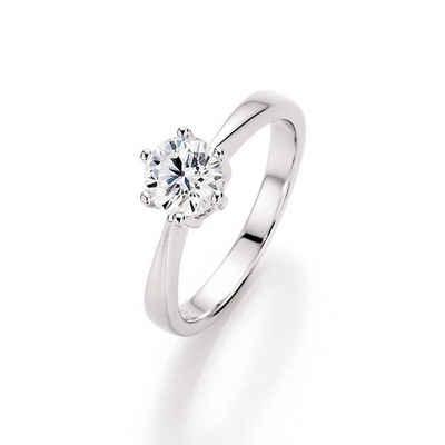 Smart Jewel Verlobungsring »funkelnd mit Zirkonia Stein, Antragsring, Silber 925«
