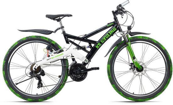 KS Cycling ATB »Crusher«, 21 Gang Shimano Tourney Schaltwerk, Kettenschaltung