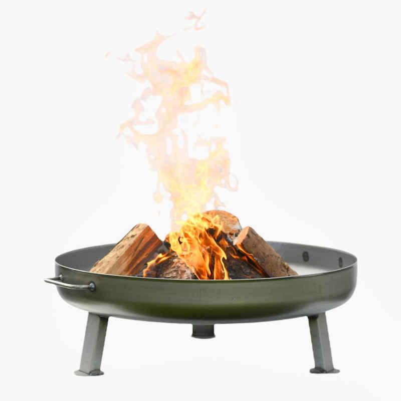Czaja Feuerschale »Czaja Stanzteile Feuerschale Bonn Ø 80 cm - mit Wasserablaufbohrung - Feuerschalen für den Garten, Terrasse und Balkon, Feuertonne und Feuerkorb, große Feuerstelle für den Garten«