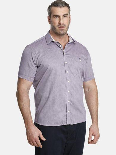 Charles Colby Kurzarmhemd »YVEN« leichtes Baumwollhemd