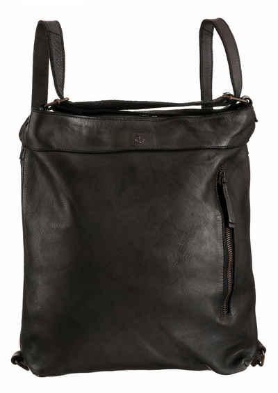 HARBOUR 2nd Cityrucksack »Nora«, aus Leder, auch als Tasche tragbar