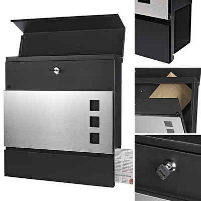 Mucola Briefkasten »Edelstahl Designer Briefkasten Postkasten Zeitungsrolle Letterbox Namensschild«, inkl. 2 Schlüssel, Zeitungsbox