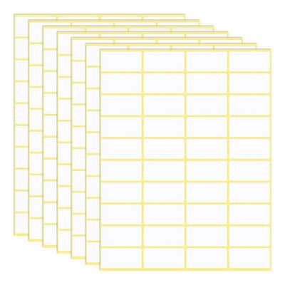 kueatily Etiketten »Packung mit 600 selbstklebenden Etiketten, 38 x 19 mm, Universal-Klebeetiketten, Adressetiketten, Haushaltsetiketten, Gefrieretiketten für Büro, Küche und Marmelade«
