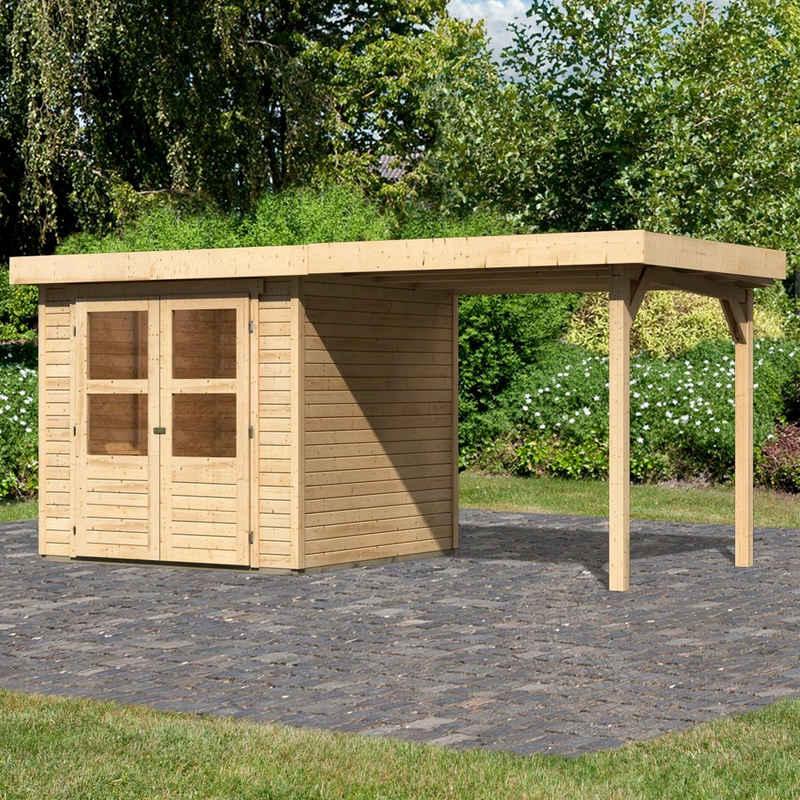 KONIFERA Gartenhaus »Engelsee 2«, BxT: 467x238 cm, (Set)