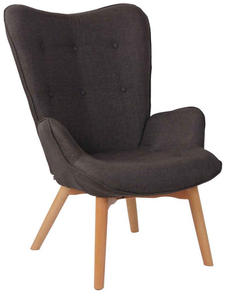 CLP Loungesessel »Durham Stoff«, mit Buchenholz Gestell