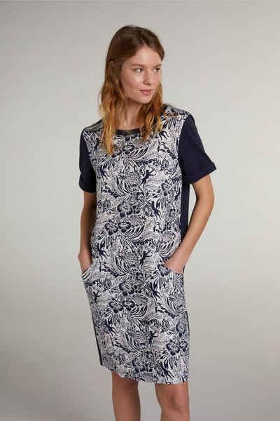 Oui Sommerkleid »Sweatshirtkleid im Tropicalprint«